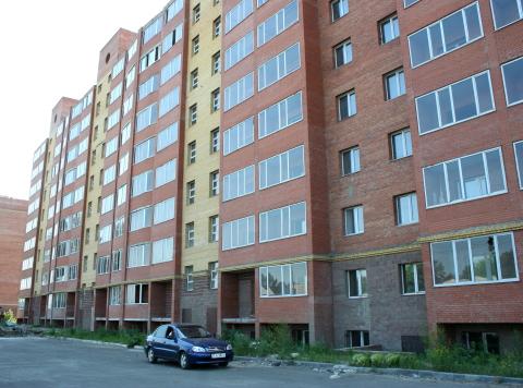 Строящийся дом на улице Герцена в Омске